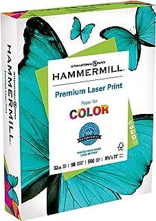 Hammermill Paper, Premium Laser Print Paper, 8.5 x 11 Paper, Letter Size, 32lb Paper, 98 Bright, 1 Ream / 500 Sheets (1046...