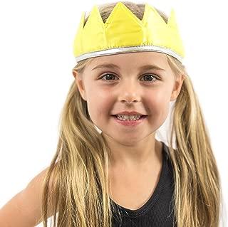 Everfan Satin Crown - Royal Princess, Prince, King, Queen, Dress Up Costume Crown