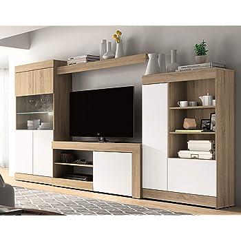 Mobelcenter - Mueble Salón Logan 004 - Blanco y Cambrian - 295 x 39,8 x 170,5 cm (0563)