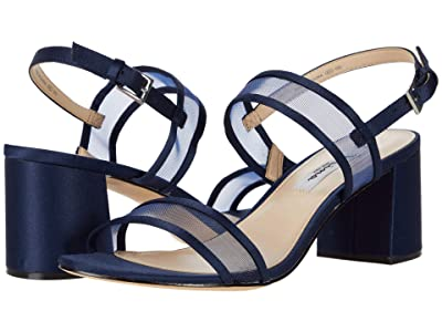 Nina Nelley (New Navy Luster Satin/Navy Mesh) Women