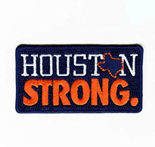 Houston Texas State Strong Embroidered Iron on Patch