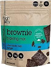 HighKey Snacks Low Carb Keto Brownie Baking Mix - Chocolate Chip Fudge, Grain & Gluten Free - Zero Sugar Added Dessert Brownies - Adkins, Paleo, Diabetic Diet Friendly - Naturally Sweetened