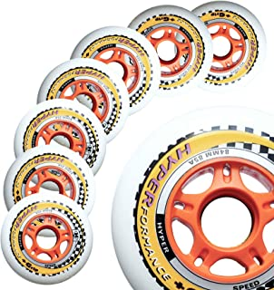 Inline Race Skate Wheels Hyper HYPERFORMANCE+G - 8 Wheels - 85A - Sizes: 84MM, 90MM, 100MM, 110MM - Speed Skating, Fitness and Outdoor Recreational Wheels