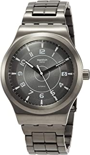 Swatch Men's Automatic Watch with Stainless Steel Strap, Grey, 19 (Model: YIM400G)