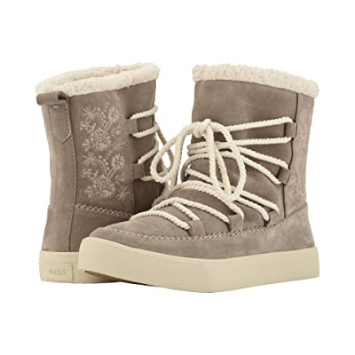 TOMS Alpine Water-Resistant Boot (Desert Taupe Suede/Faux Sherling) Women