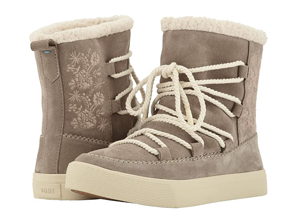 af6713b4427 TOMS Alpine Water-Resistant Boot (Desert Taupe Suede Faux Sherling) Women