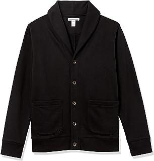 Amazon Essentials Men's Long-Sleeve Fleece Shawl-Collar Cardigan