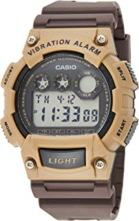 Casio Men's Dial Silicone Band Watch - W-735H-8A2VDF