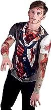 Faux Real Men's 3D Photo-Realistic Long Sleeve Mesh Tattoo Tee Shirt
