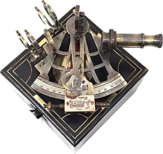 Collectibles Buy Nauticals Antique Brass Sextant - Vintage Heavy Brass Sextant Ship GPS Navigation System
