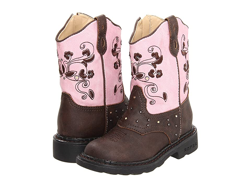 Roper Kids Western Dazzle Lights (Toddler/Little Kid) (Brown) Cowboy Boots