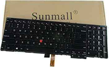 SUNMALL Laptop Keyobard Replacement with Backlit and Pointer Compatible with Lenovo ThinkPad Edge E531 E540 W540 W541 W550 W550S T540 T540P T550 L540 Series Fit P/N 0C45254 Black US Layout