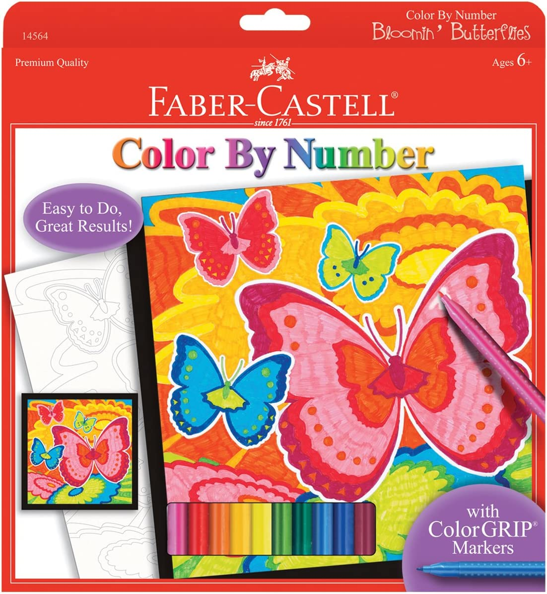 Online limited product Faber-Castell Color Very popular by Number Bloomin' Butterflies and - D