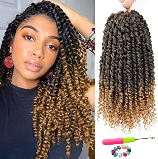 Sponsored Ad - Passion Twist Hair - 8 Packs 14 Inch Passion Twist Crochet Hair For Black Women, Crochet Pretwisted Curly H...