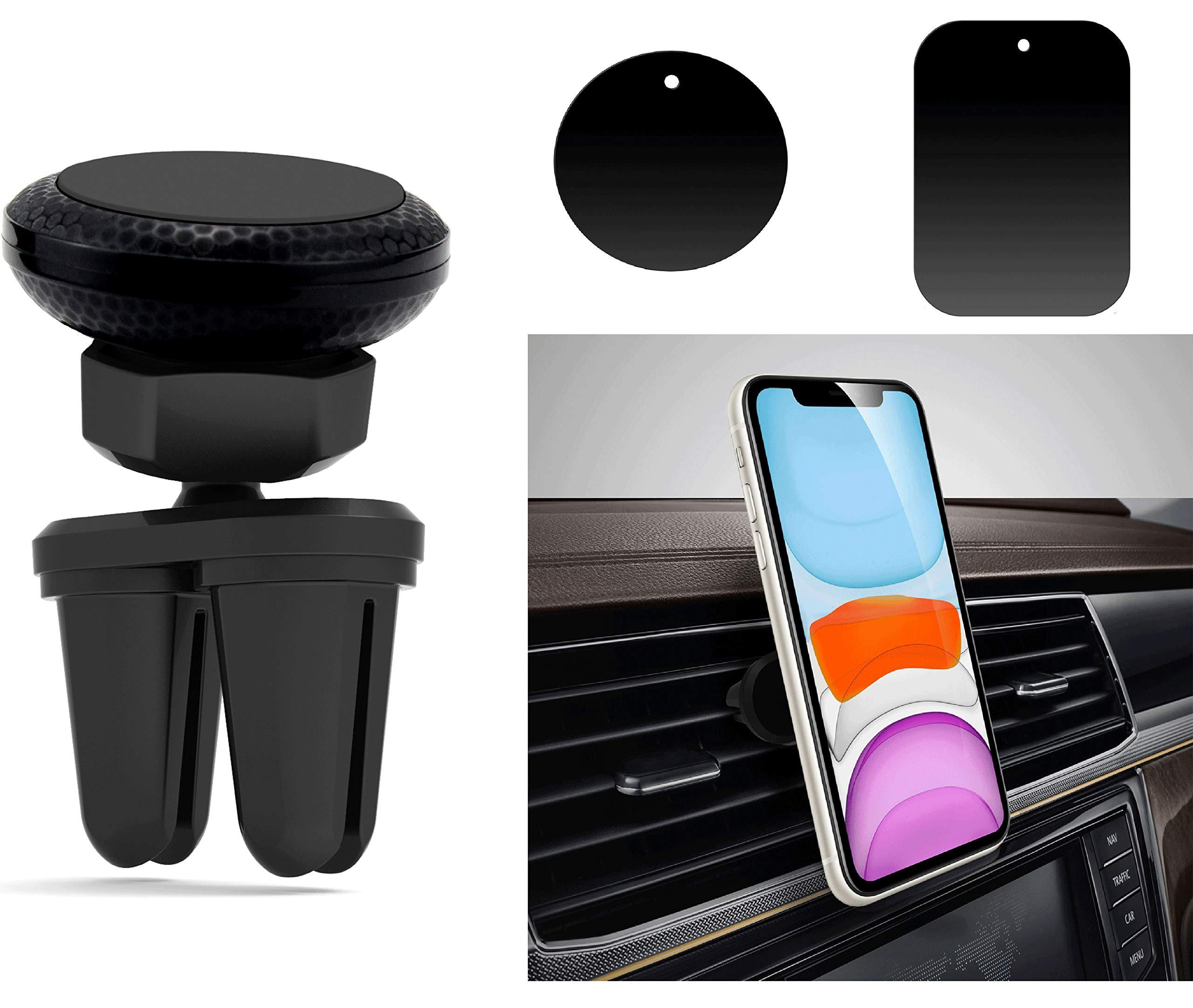 Babacom Soporte Movil Coche Magnético,360 Grados Rotación Soporte Teléfono Coche Universal Rejilla Ventilación con Doble Clip Estable para iPhone, Samsung y Otras Smartphones de 3.5 a 6.5 Pulgadas: Amazon.es: Electrónica