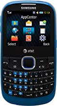 Samsung A187 Unlocked Phone with QWERTY Keyboard, 1.3MP Camera, Music Player and Speakerphone-U.S. Version (Blue)