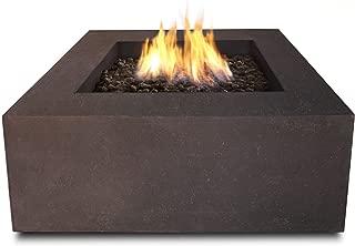 Real Flame T9620NG-KB T9620NG Baltic Square Natural Gas Fire Table, Kodiak Brown