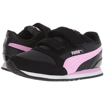Puma Kids ST Runner v2 NL V (Little Kid) (Puma Black/Orchid) Girls Shoes