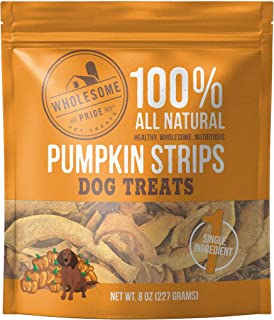 Wholesome Pride Pumpkin Strips – All Natural Healthy Dog Treats – Vegan,..
