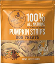 Wholesome Pride Pumpkin Strips - All Natural Healthy Dog Treats - Vegan, Gluten and Grain-Free Dog Snacks