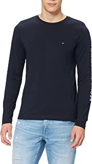 Tommy Hilfiger Herren Tommy Logo Long Sleeve Tee Sporthemd