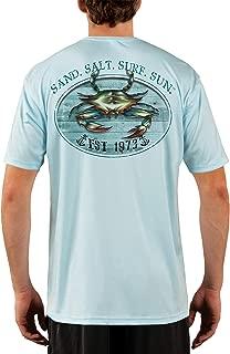 Crab Men's UPF 50+ UV Sun Protection Performance Short Sleeve T-Shirt