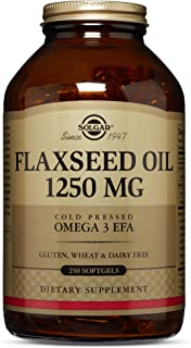 Solgar – Flaxseed Oil 1250 mg, 250 Softgels
