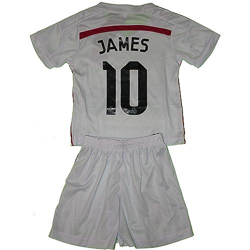 4de3169a762 2014 2015 James Rodriguez 10 Home Real Madrid Football Soccer Kids Jersey    Short
