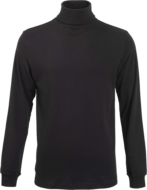 Men's Turtleneck Long Sleeve Thermal Underwear Ski Cotton Knitted Mock Turtleneck Sweaters Base Layer Shirts for Men