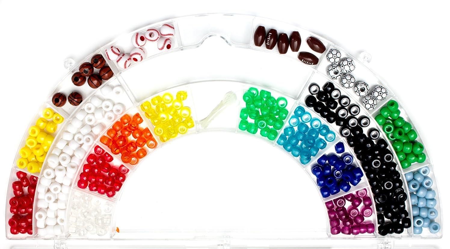 Cousin DIY 380+pc Acrylic Sports Bead Rainbow