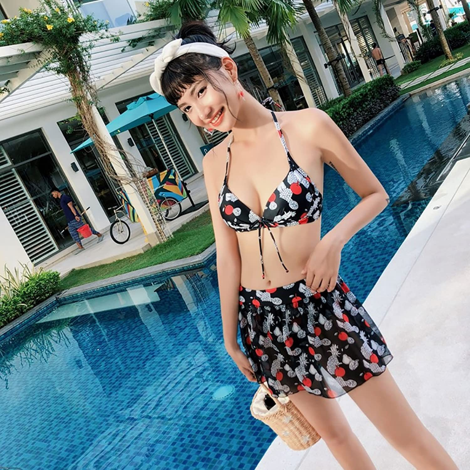 Swimsuit Swimsuit Female Split ThreePiece Spa Students Conservative Small Fresh Belly Slim Swimsuit
