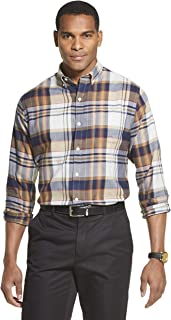 Men's Flex Long Sleeve Button Down Stretch Plaid Shirt