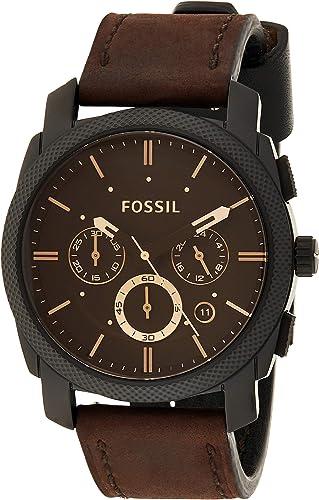 Fossil Homme Chronographe Quartz Montre avec Bracelet en Cuir FS4656IE