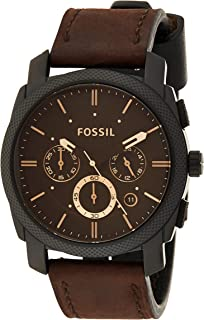 Fossil Mens Quartz Watch, Chronograph Display and Leather Strap FS4656IE