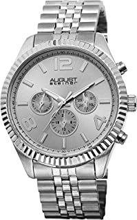Men's Multifunction Watch - 3 Multifunction Subdials Include Day, Date and GMT on Stainless Steel Bracelet - AS8096