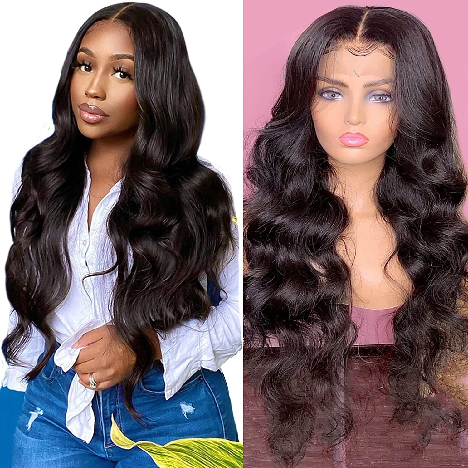 T Part Popular shop is the lowest price challenge Body Wave Transparent Lace Wigs for Women Hum Black Spring new work one after another Front
