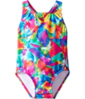 Speedo Kids - Printed Racerback One-Piece Swimsuit w/ Snaps (Infant/Toddler)