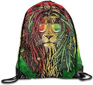 f46e62705b Yesliy Rasta Lion Cool Unisexe Cordon de serrage Sac à dos de voyage Sac de  sport