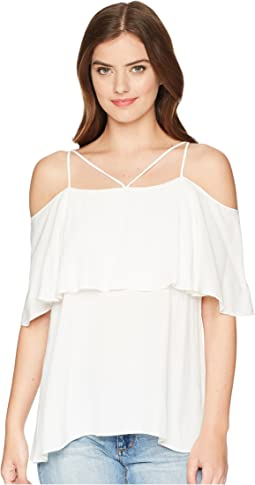 Lady Luxe Viscose Crepe Woven Top