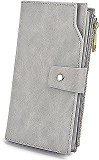 UTO Femme Portefeuille Porte-Cartes Blocage RFID en PU Cuir avec Bracelet Grande Capacité(21 emplacements de Cartes) Poche...
