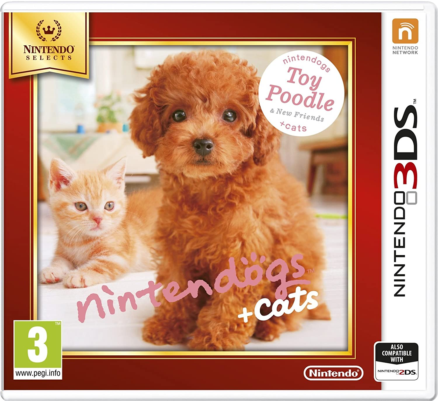 Nintendo Selects - Nintendogs + 5 ☆ very popular Cats 25% OFF Toy Poodle New Friends