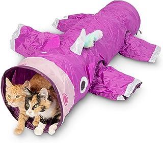 اسباب بازی Pet Craft Magic Magic Mewnicorn Multi Cat Tunnel Boredom Relief اسباب بازی با کرک پرهای رشته ای برای گربه ها ، خرگوش ها ، بچه گربه ها و سگ ها برای مخفی کردن شکار و استراحت