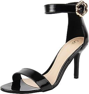 Catwalk Women's Patent Ankle Strap Stilettos