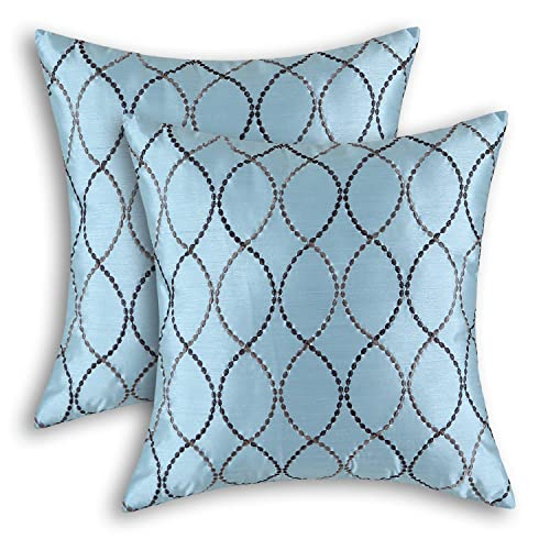 Blue And Brown Throw Pillows Amazoncom