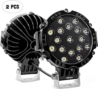 Nilight Barra de luz LED, 2 piezas, 17,78 cm, 51 W, 5100 lú