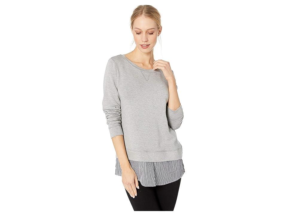 BB Dakota Layer Slayer Sweatshirt (Light Heather Grey) Women