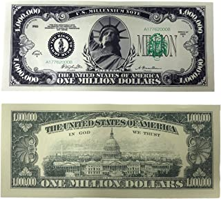 TheGag Million Dollar Bills- 100 Bills Very Realistic Looking Prop Money Copy -Educational Product-Play Money-Millones De Billetes Dinero Falso