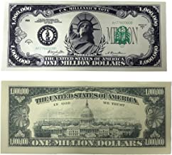 Great Novelty Bill! The Traditional One Million Dollar Bill Set of 10