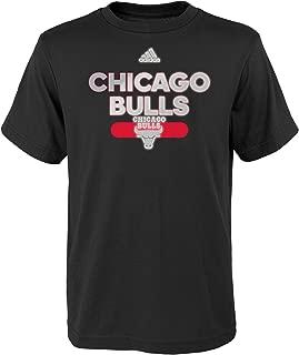 NBA Reflective Authentic Short Sleeve Tee-Black-XL(18), Chicago Bulls