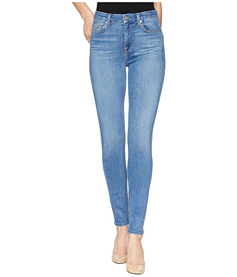 7 For All Mankind High-Waist Skinny in Slim Illusion Jeans in Luxe Authentic Light